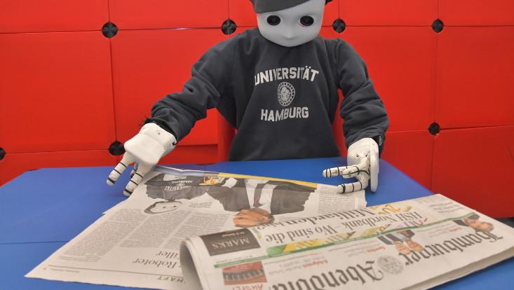 "Knowledge Technology with NICO robot in the ""Hamburger Abendblatt"""